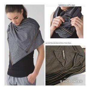 LULULEMON vinyasa scarf Tonka stripe heathered